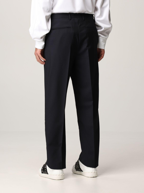 Pantalone Valentino: Pantalone Valentino in lana blue navy 3
