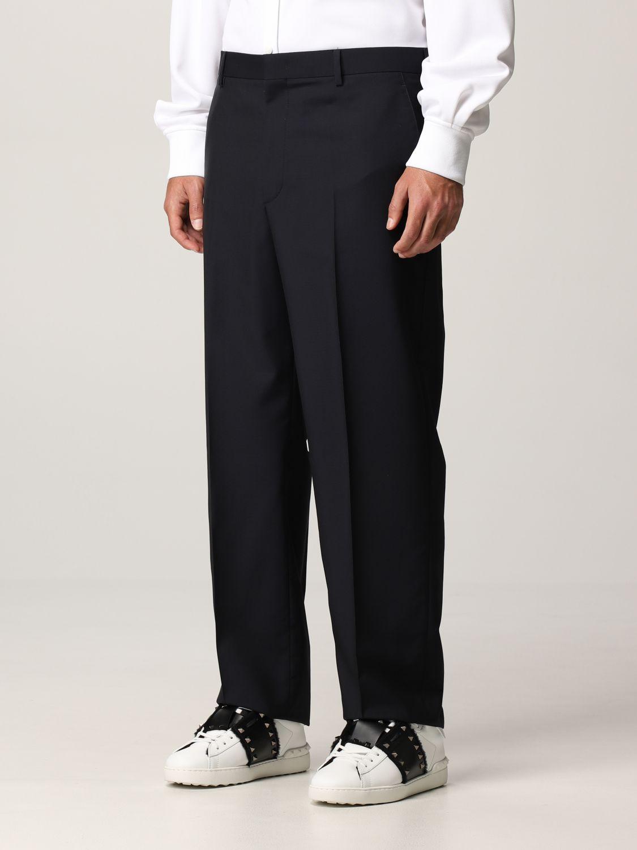 Pantalone Valentino: Pantalone Valentino in lana blue navy 4