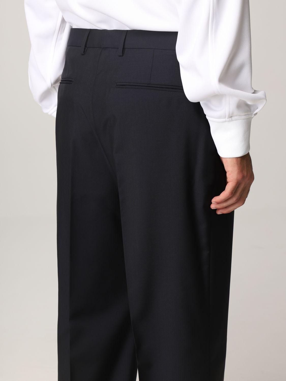 Pantalone Valentino: Pantalone Valentino in lana blue navy 5