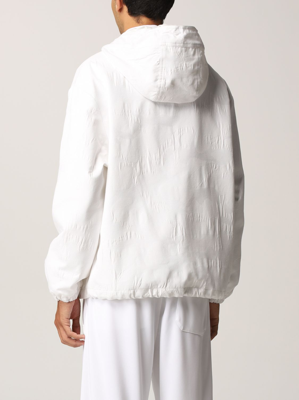 Giacca Valentino: Caban Valentino in cotone tecnico con logo bianco 3