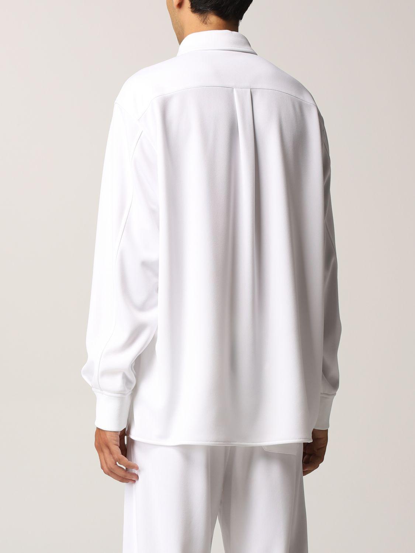Camicia Valentino: Camicia Valentino in jersey con logo VLTN gommato bianco 3