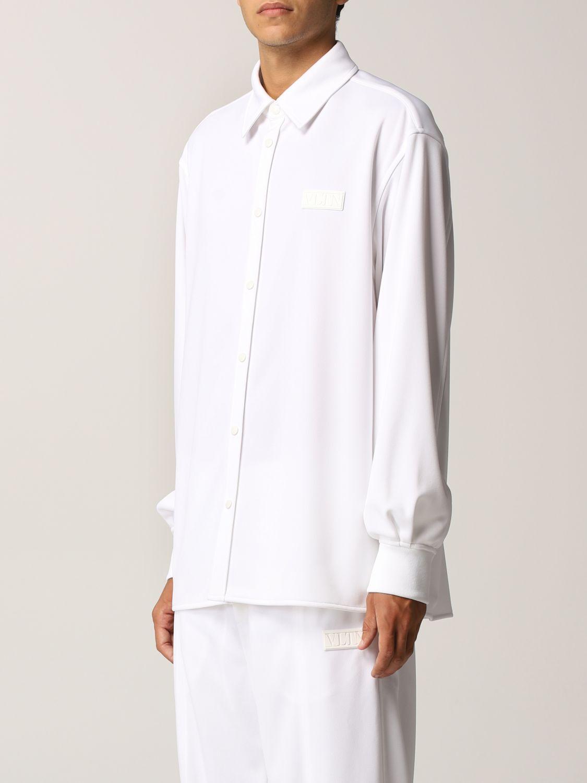 Camicia Valentino: Camicia Valentino in jersey con logo VLTN gommato bianco 4