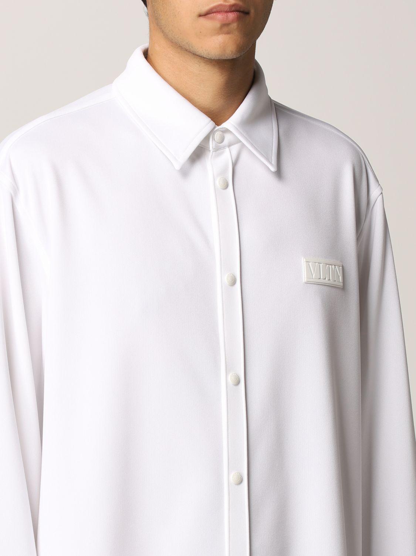 Camicia Valentino: Camicia Valentino in jersey con logo VLTN gommato bianco 5