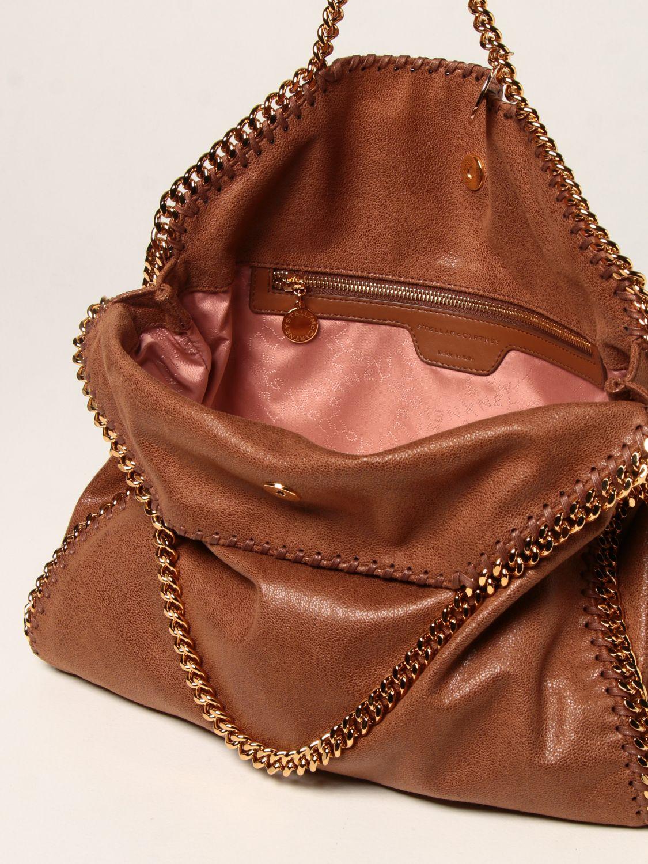 Borsa a spalla Stella Mccartney: Borsa a spalla Falabella Stella McCartney con catene marrone 5