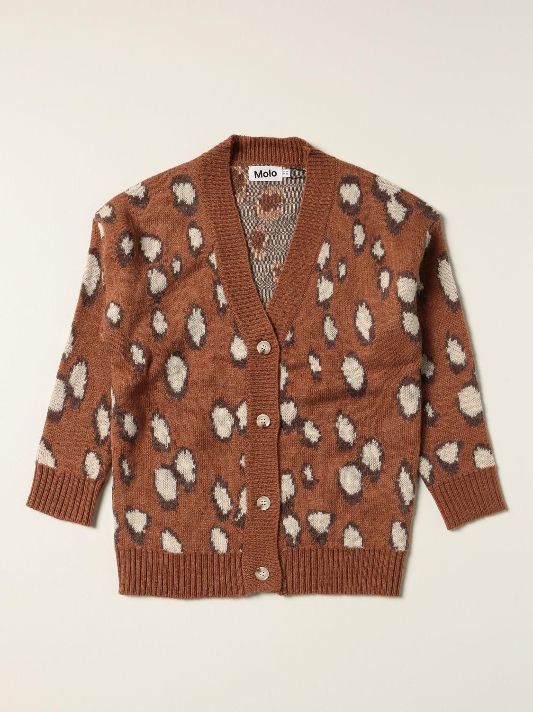 Sweater Molo: Molo cardigan with animalier pattern multicolor 1