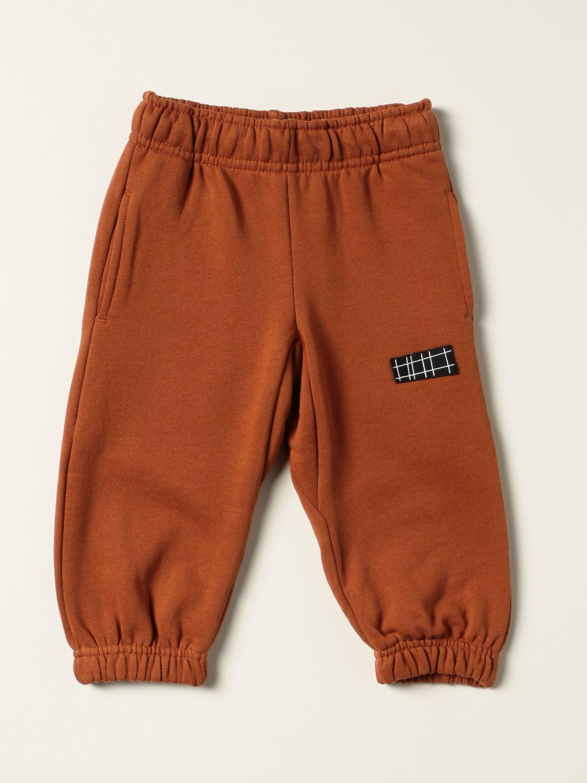 Pants Molo: Molo cotton pants with logo grey 1