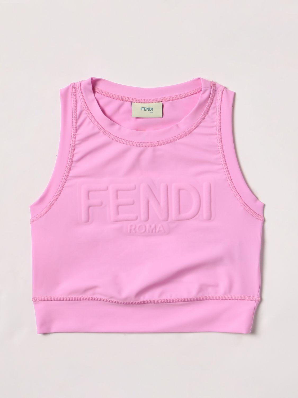 上衣 Fendi: 上衣 儿童 Fendi 婴儿粉 1