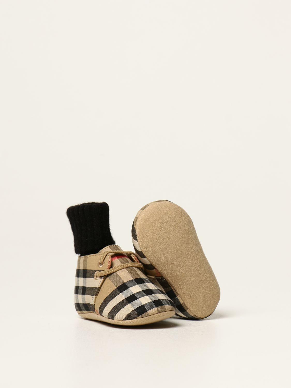 Scarpe Burberry: Scarpa Burberry in tela check beige 2
