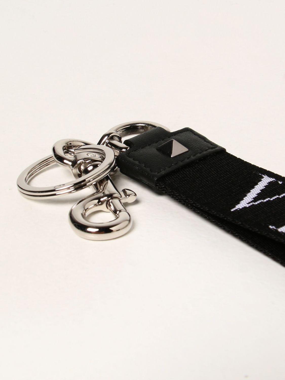 Portachiavi Valentino Garavani: Portachiavi Valentino Garavani con logo VLTN nero 2