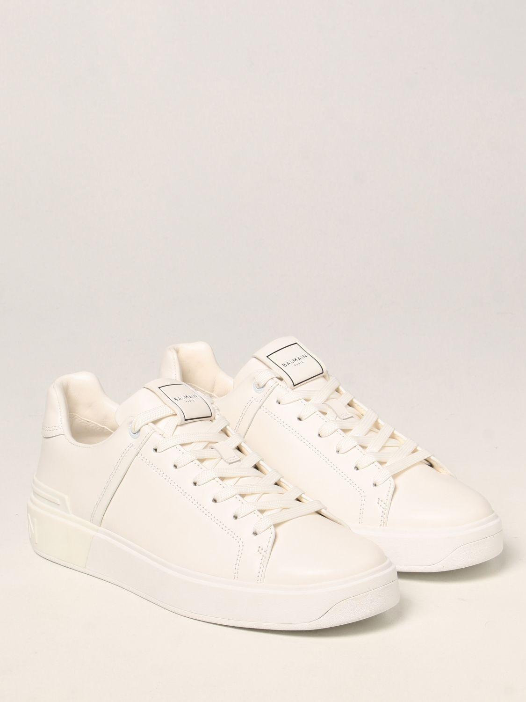 Sneakers Balmain: Sneakers Balmain in pelle bianco 2