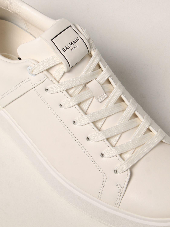 Sneakers Balmain: Sneakers Balmain in pelle bianco 4