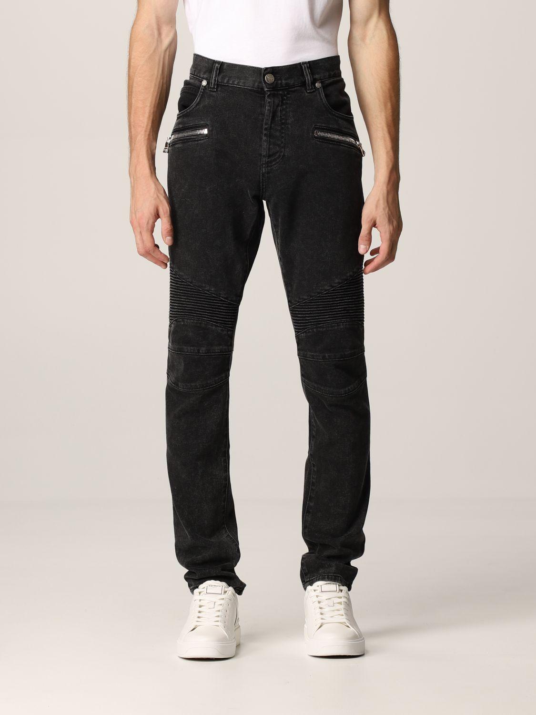 Jeans Balmain: Jeans men Balmain black 1