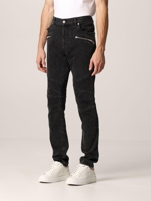 Jeans Balmain: Jeans men Balmain black 4