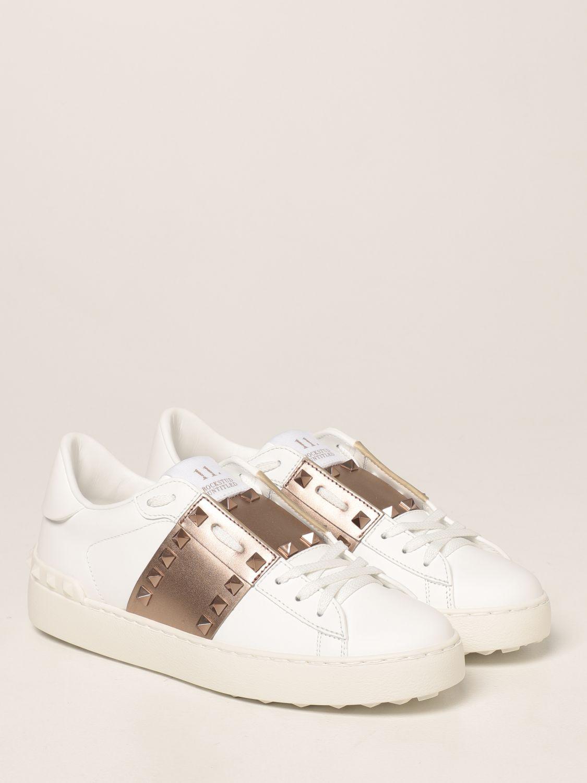 Sneakers Valentino Garavani: Sneakers Rockstud Untitled Valentino Garavani in pelle bianco 2