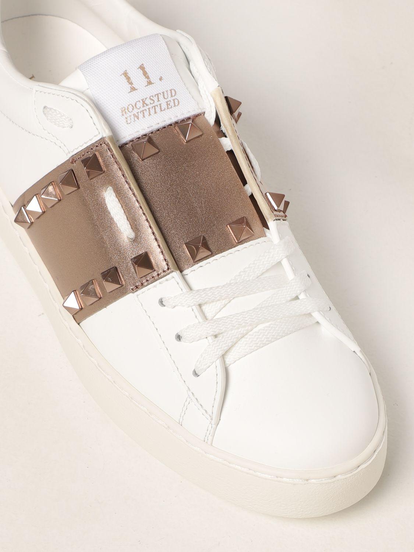 Sneakers Valentino Garavani: Sneakers Rockstud Untitled Valentino Garavani in pelle bianco 4