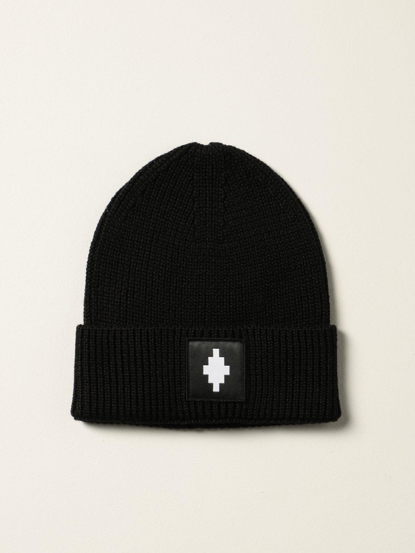 Cappello Marcelo Burlon: Cappello a berretto Marcelo Burlon County of Milan con logo nero 1