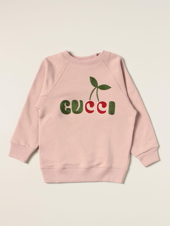 Maglia Gucci: Felpa a girocollo Gucci con logo ciliegia rosa 1