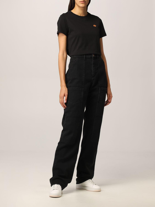 Pantalone Kenzo: Jeans Kenzo in denim nero 2