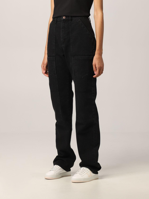 Pantalone Kenzo: Jeans Kenzo in denim nero 4