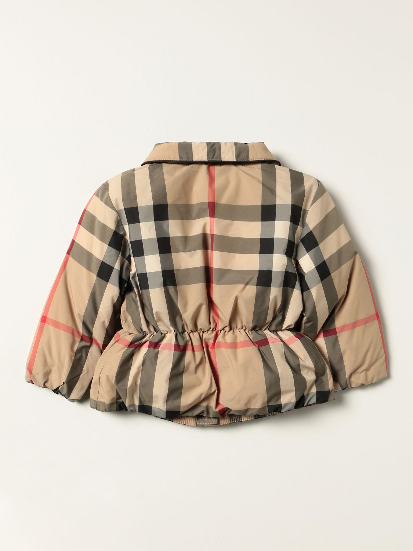 Giacca Burberry: Giubbotto Burberry in nylon check beige 2