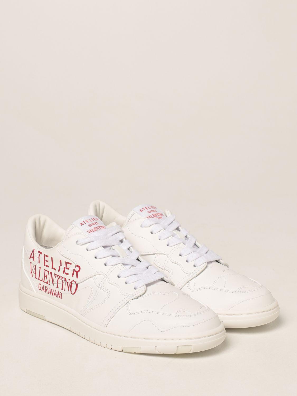 Sneakers Valentino Garavani: Sneakers Atelier Shoes 07 Valentino Garavani in pelle bianco 2