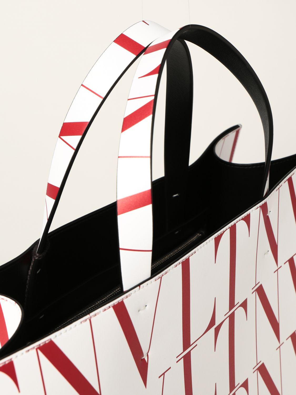 Borsa Valentino Garavani: Borsa Valentino Garavani in pelle con logo VLTN bianco 4