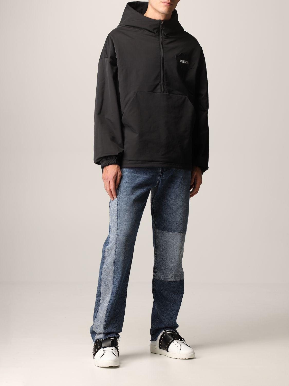 Jeans Valentino: Jeans Valentino a 5 tasche in denim patchwork blue navy 2