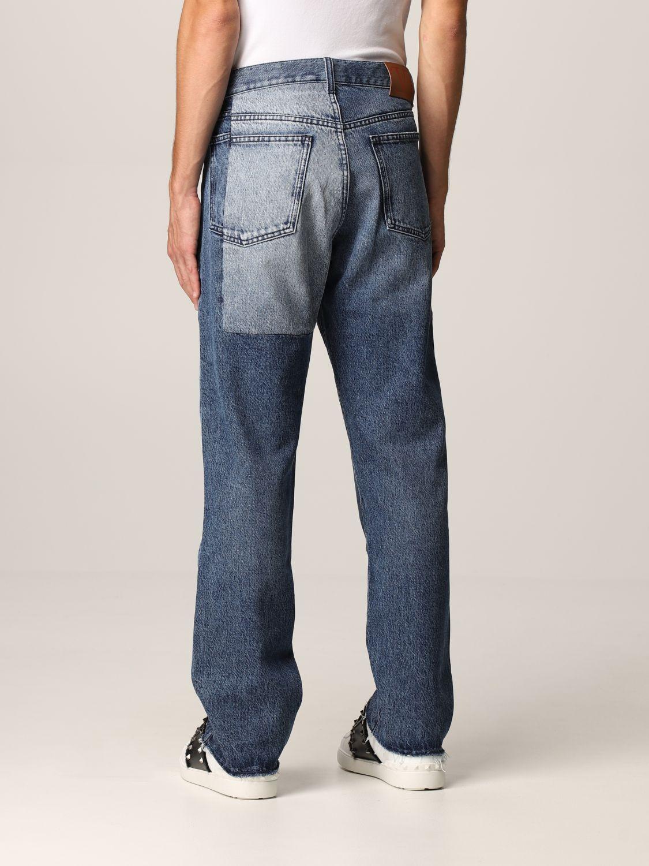Jeans Valentino: Jeans Valentino a 5 tasche in denim patchwork blue navy 3