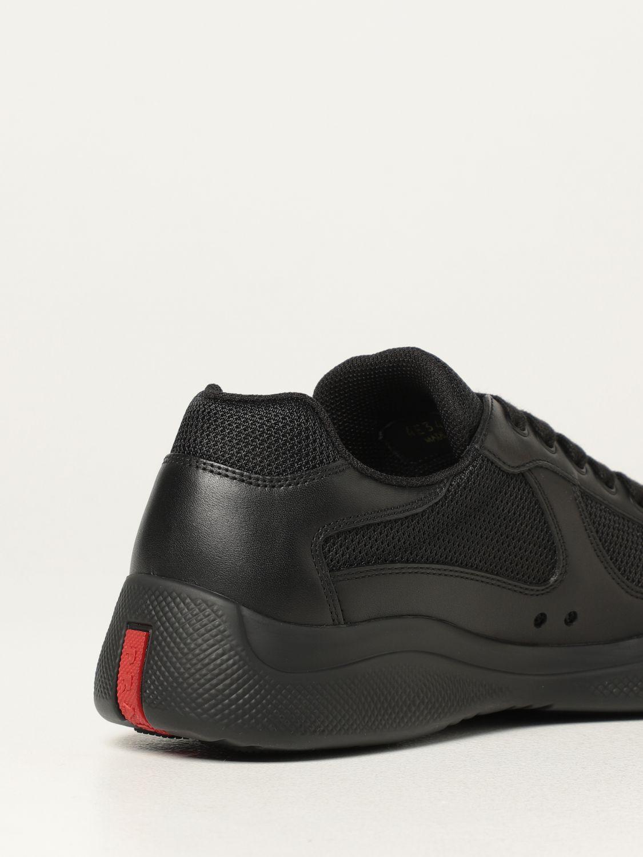 Sneakers Prada: Sneakers Prada in pelle di vitello e rete nero 3
