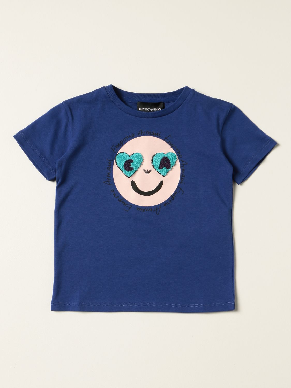 Camisetas Emporio Armani: Camisetas niños Emporio Armani azul oscuro 1