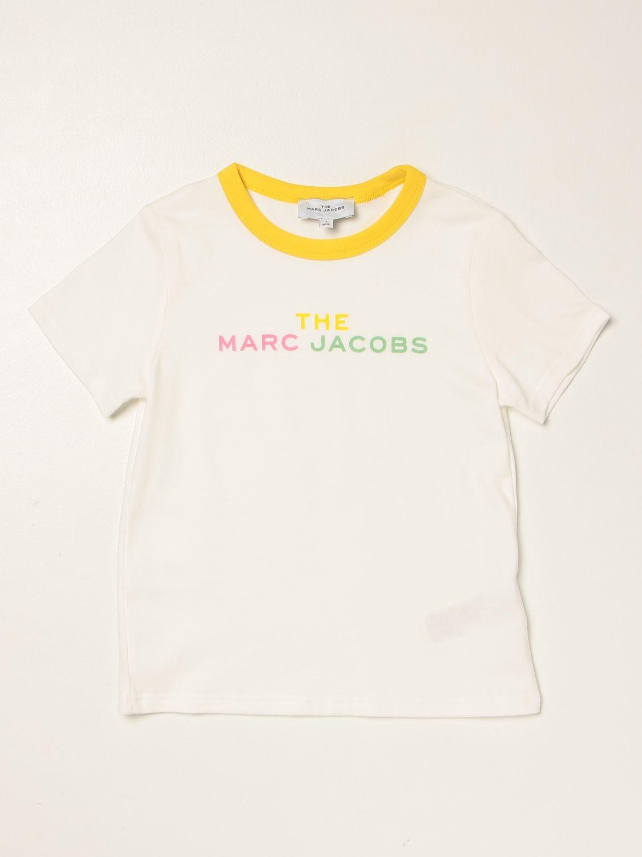 T-shirt Little Marc Jacobs: T-shirt Little Marc Jacobs con logo bianco 1