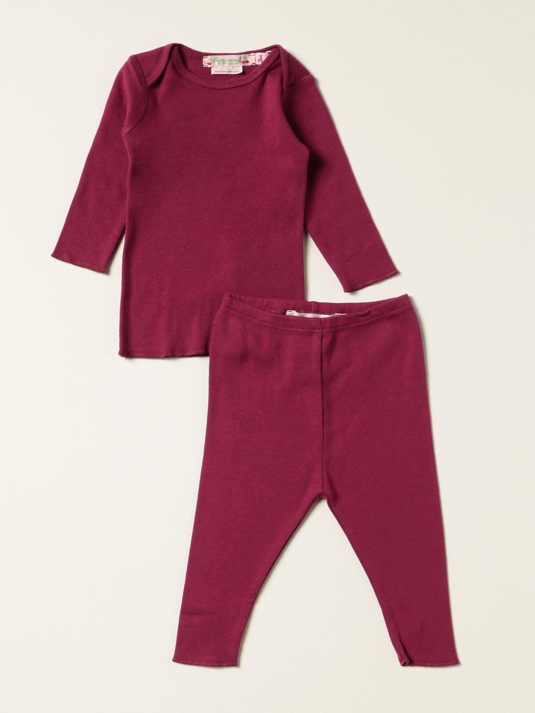 Completo Bonpoint: Set t-shirt + leggings Bonpoint in cotone rosa 1