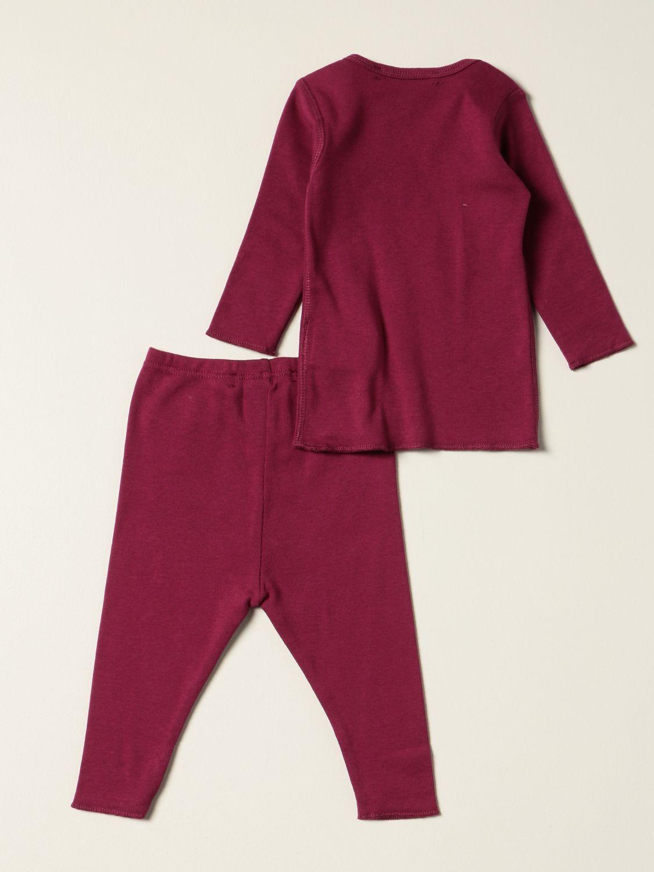 Completo Bonpoint: Set t-shirt + leggings Bonpoint in cotone rosa 2