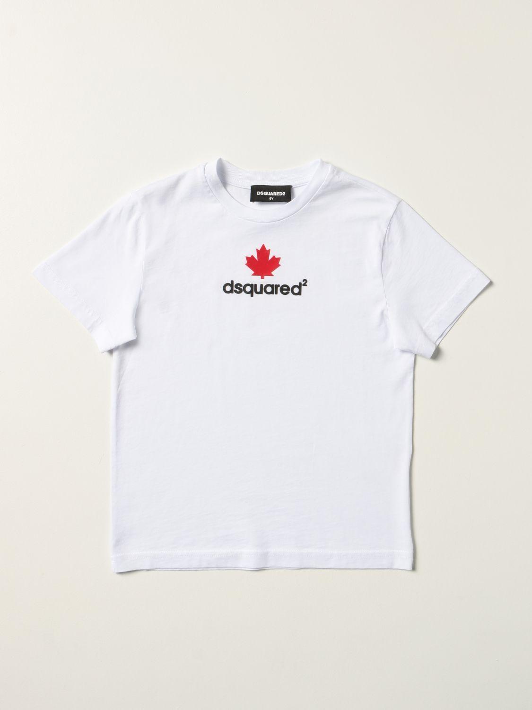 T-shirt Dsquared2 Junior: T-shirt Dsquared2 Junior in cotone con logo bianco 1