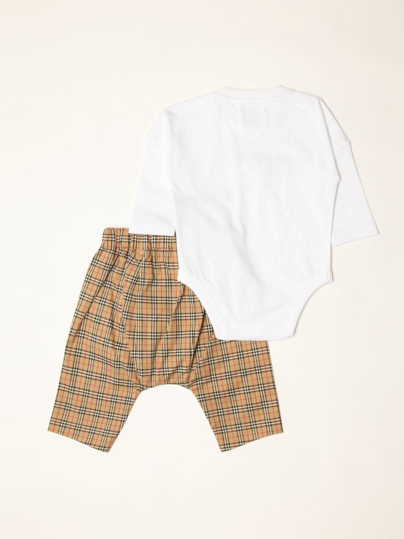 Pack Burberry: Burberry body + pants + bear set beige 2