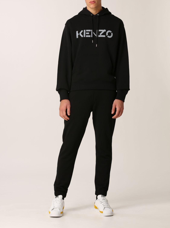 Felpa Kenzo: Felpa Kenzo con logo stampato nero 2