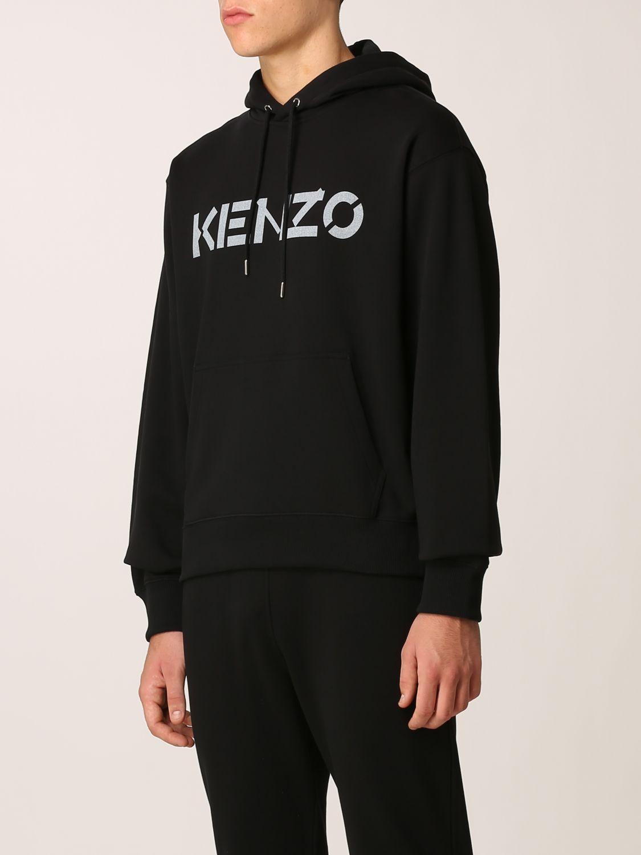 Felpa Kenzo: Felpa Kenzo con logo stampato nero 4