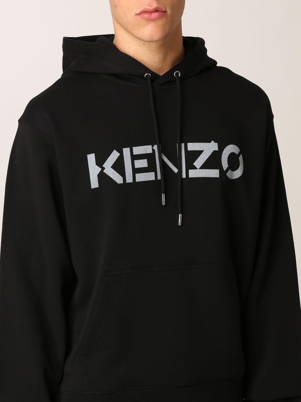 Felpa Kenzo: Felpa Kenzo con logo stampato nero 5