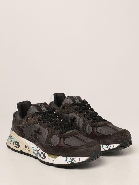 Sneakers Premiata: Sneakers Mase Premiata in nylon e camoscio verde 2