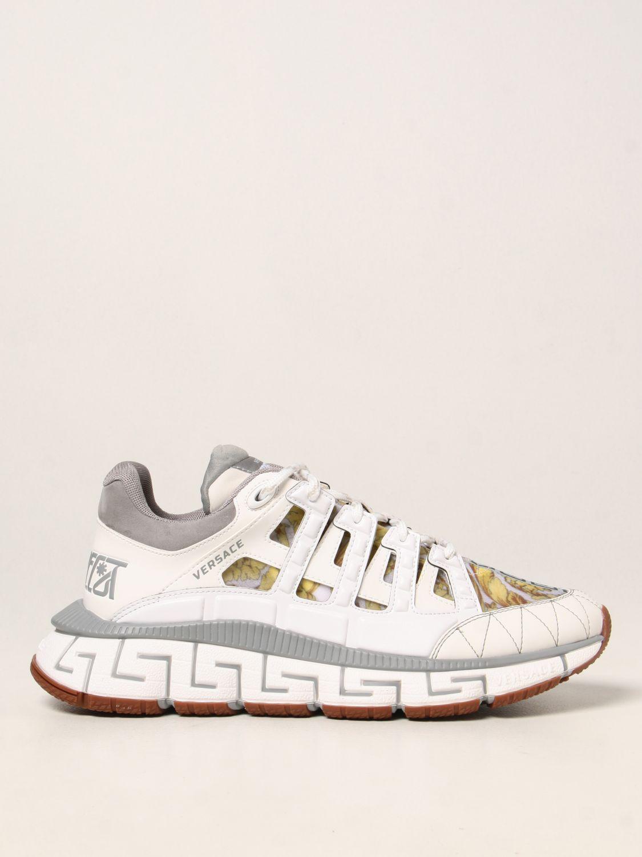 Sneakers Versace: Sneakers Trigreca Versace in nylon baroque bianco 1