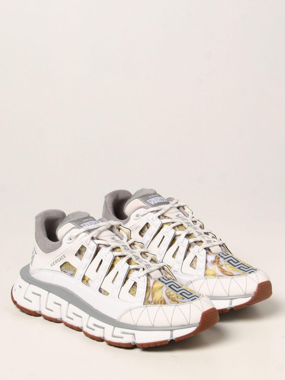 Sneakers Versace: Sneakers Trigreca Versace in nylon baroque bianco 2