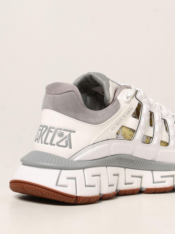 Sneakers Versace: Sneakers Trigreca Versace in nylon baroque bianco 3