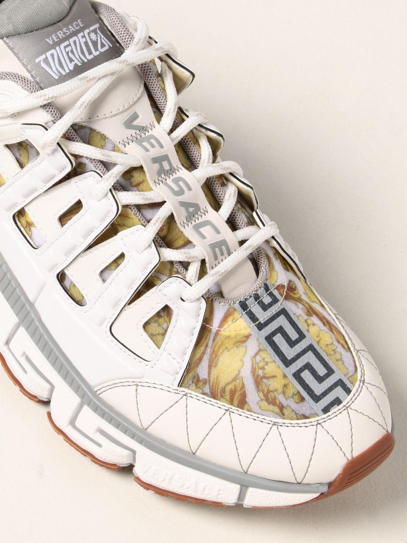 Sneakers Versace: Sneakers Trigreca Versace in nylon baroque bianco 4