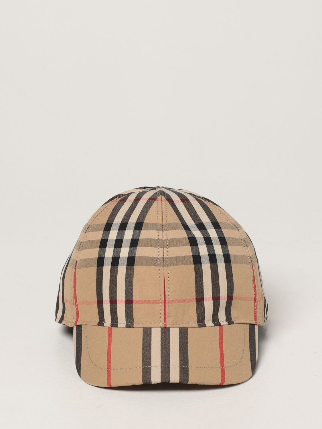 Hat Burberry: Burberry baseball cap in check cotton beige 2