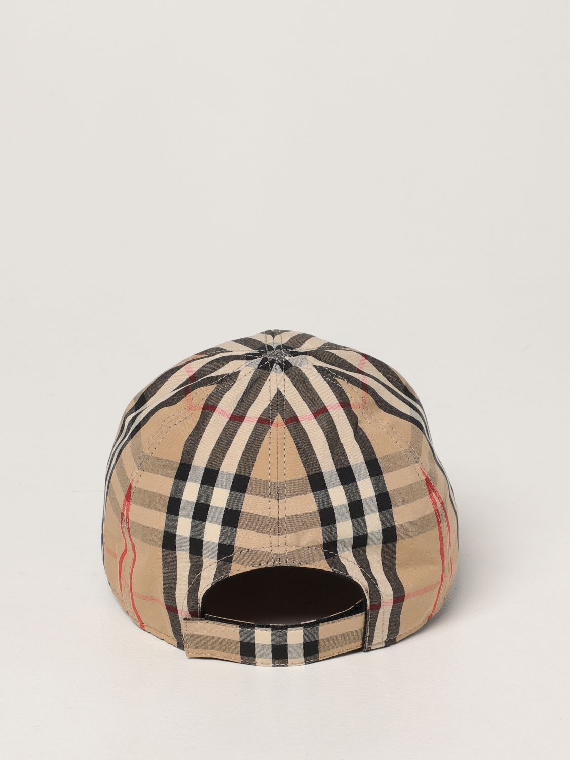 Hat Burberry: Burberry baseball cap in check cotton beige 3