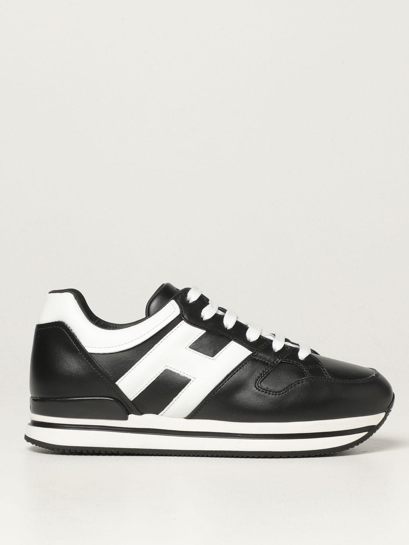HOGAN: H222 sneakers in leather   Sneakers Hogan Women Black ...