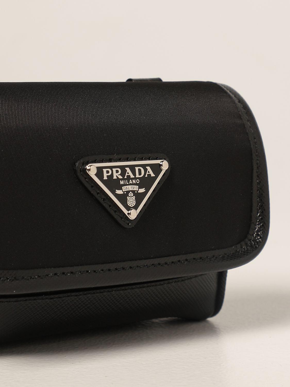 Borsa a tracolla Prada: Borsa a tracolla Prada in Re-nylon e pelle saffiano nero 4