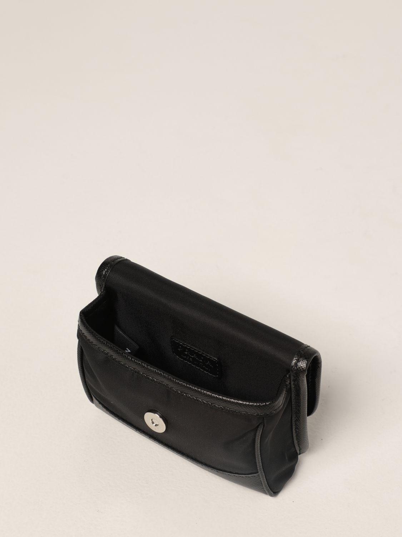 Borsa a tracolla Prada: Borsa a tracolla Prada in Re-nylon e pelle saffiano nero 5