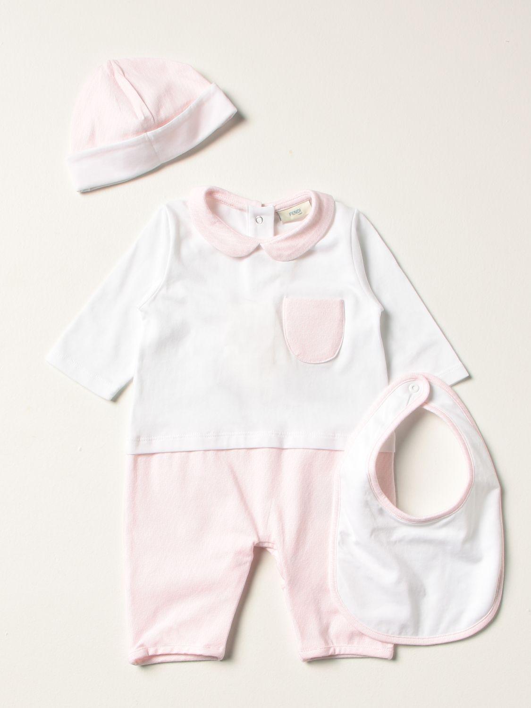Pack Fendi: Tracksuit kids Fendi pink 1