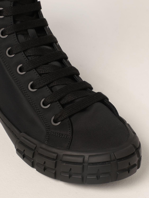 Sneakers Prada: Sneakers a polacco Wheel Prada in gabardine Re-Nylon nero 4
